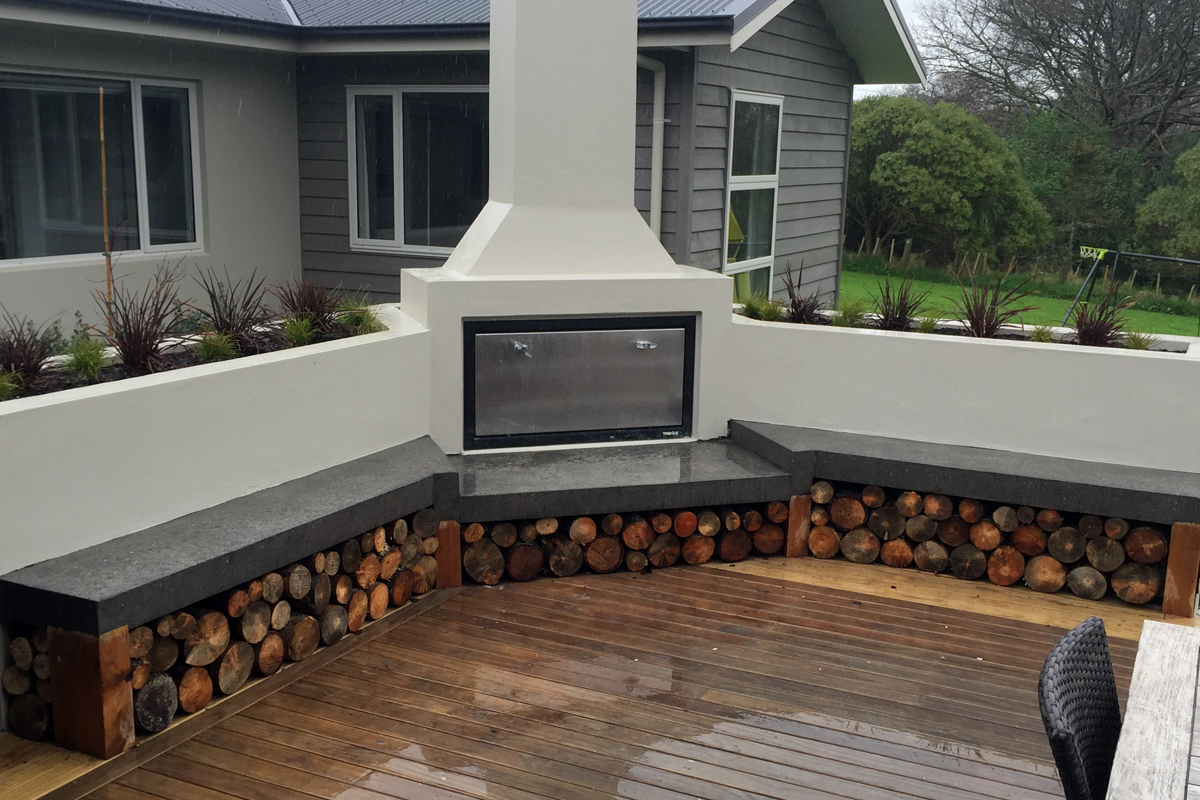 Total Landscape Solutions Construction Outdoor Fireplace